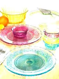 clear glass dinnerware sets dish set home improvement es red