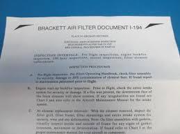 Details About Brackett Air Filter Ba 8010 New 8128