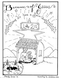 These nativity coloring sheets are ideal for kids of all ages. Nativity Scene Coloring Pages Jesus Is Here Ministry To Children