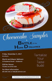 Event Quotation Sample Cool Cheesecake Sampler And Battle Of The Hors D'Oeuvres 44 KOTA AM