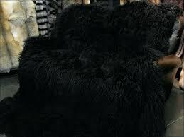 mongolian sheepskin rug pink 6 x 8 lamb fur black