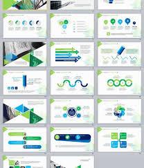 20 Green Report Powerpoint Presentation Template Ppt