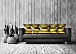 sofa and yellow hold pillow bright yellow sofa living