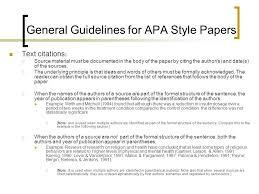 Apa Guidelines For Writing Research Papers