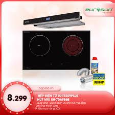 Combo Bếp từ 2 vùng nấu Eurosun EU-TE259PLUS + Hút mùi âm tủ Eurosun  EH-70AF86B