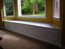 Living Room Benches Living Room Interior Eye Catching White Wooden Bay Window Seat Non
