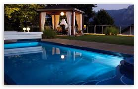 home swimming pools at night. Download Swimming Pool At Night HD Wallpaper Home Pools A