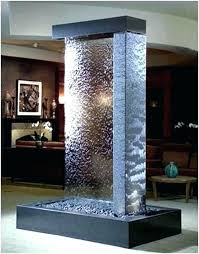 small indoor waterfall glass water wall fountain indoor water wall best rustic indoor fountains ideas on