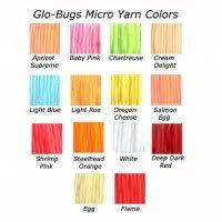 Glo Bug Yarn Color Chart Glo Bug Yarn Fly Fishing