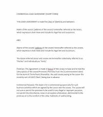 Simple Rental Lease Agreement 26 Free Commercial Lease Agreement Templates Template Lab