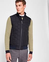 Funnel neck quilted gilet - Navy | Jackets & Coats | Ted Baker &  Adamdwight.com