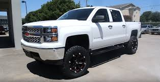 chevy trucks 2014 lifted white. Wonderful Trucks 2014 Chevrolet Silverado 1500 Lifted With Custom Wheels And Tires In Chevy Trucks White L