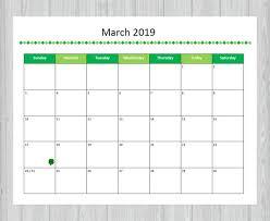 Printable Calendar Pdf Magnificent March 48 Calendar Printable And Editable Seasonal Etsy