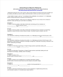 18 Sample Resume Objectives Pdf Doc Free Premium