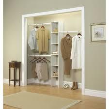 details about vertical closet organizer 12 free standing shelving adjule hanging rod rack