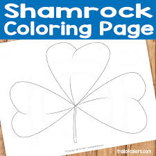 Shamrock Coloring Page Free Shamrock Coloring Page For Kids Trail Of Colors