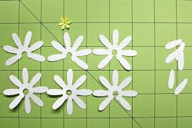 4 Petal Flower Paper Punch Shaped Punched Flowers