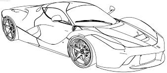 Ferrari Laferrari Coloring Page Wecoloringpagecom