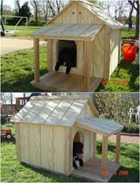 diy dog house with shade porch plans description from