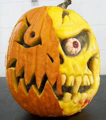 pumpkin drawing with shading. zombie pumpkin drawing with shading