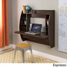 office floating desk small. Prepac Floating Desk With Storage (Black Finish - Black), Size Large Office Small