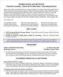 Entry Level Finance Resume 19 Templates Accountant