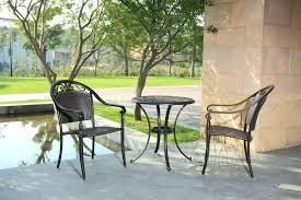 metal garden bistro set rattan bistro set 3 piece furniture table and chairs garden weatherproof outdoor metal garden bistro