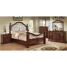 Furniture of America Barath 4 Piece Antique Dark Oak Bedroom Set a3c362bc 8131 4d0e 99a9 f7dd9223e2fd 600