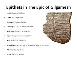 character analysis mentioned 7 epithets in the epic of gilgameshbull