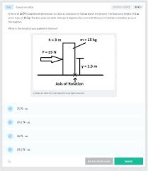 torque on a box ap physics 1 and 2 practice question