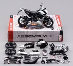 maisto 1 12 ktm 690 duke assemble diy motorcycle bike model kit toy new in