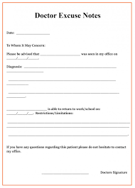 Fantastic Free Doctors Note Template Ideas Fake Download