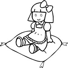 Coloring books for boys and girls of all ages. Dolls Coloring Pages