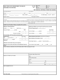 Generic Referral Form Templates Free Doctor Template Medical