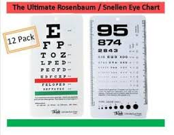 Details About Lot Of 12 Medical Snellen Pocket Eye Exam Chart Great For Opthamologists Bwt