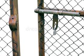 Chain Link Fence Gate stock photo Image of barrier handle 53985784