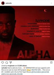Sarkodies Alpha Tape Is At Number 16 On Us Hip Hop Album