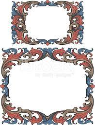 premium stock photo of vintage arabesque scrollwork frame