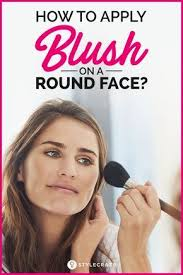 how to apply blush on a round face blush gives you a chiseled jaw look which makes your face appear slimmer and really contoured makeup makeuptips