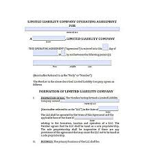 Llc Operating Agreement Free , 23+ Llc Operating Agreement Template ...