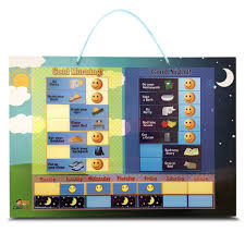 Night Chart Magnetic Day Night Responsibility Chart For Kids