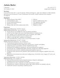 Sample Resume For Electrician Inspiration Electrical Maintenance Resume Electrical Maintenance Engineer Sample