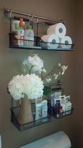 Ikea Fintorp (or Bygel) rail and hanging basket for bathroom storage