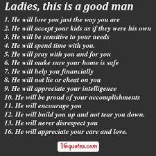 Good Men Quotes Interesting A Good Man Quotes And Sayings LADIES THESE ARE THE QUALITIES OF A