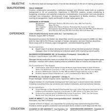 Sample Pdf Production Resume Template Zlatanblog Com