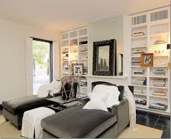 chaise chairs for living room. chaise lounge chairs in front of fireplace and bookshelves for living room r