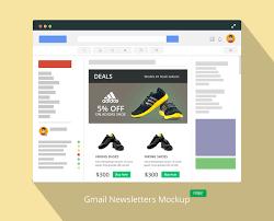 Gmail Newsletter Mockup On Behance