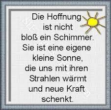 Die Hoffnung German Sprueche Sprüche Hoffnung