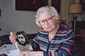 "miep gies and the power of one essay speakeasy wsj 11 displays a copy of her book ""anne frank remembered"" at her apartment in amsterdam"
