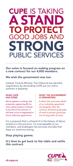 print ad cupe is taking a stand for good jobs and strong public services